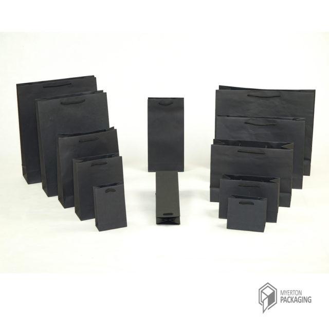 plain paper bags - black