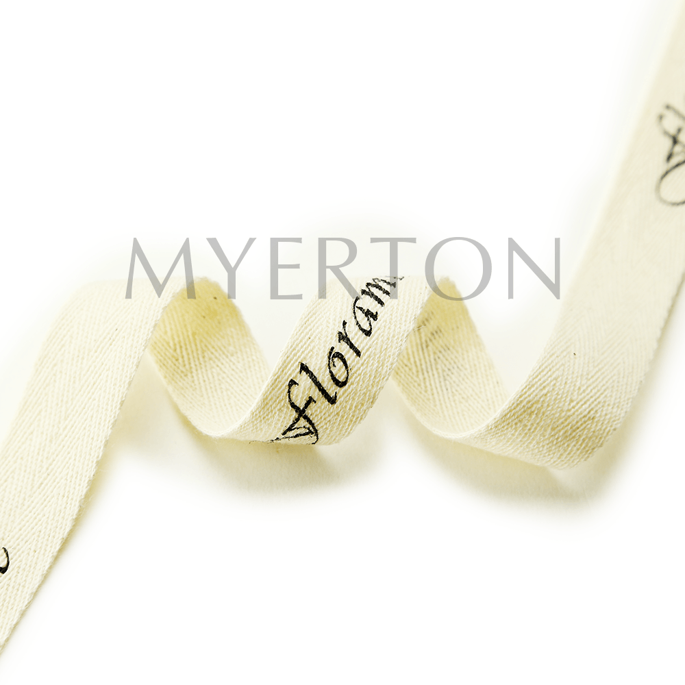 printed cotton ribbon myerton packaging
