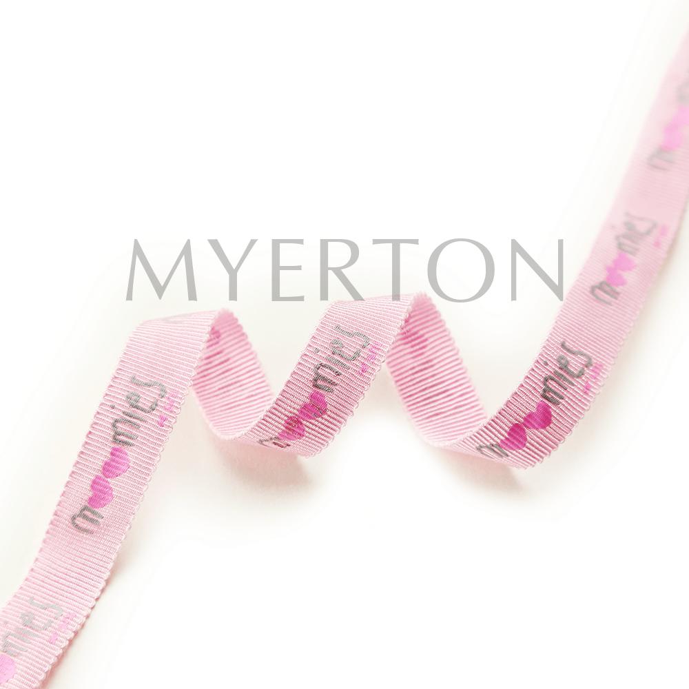 printed grosgrain ribbon myerton packaging