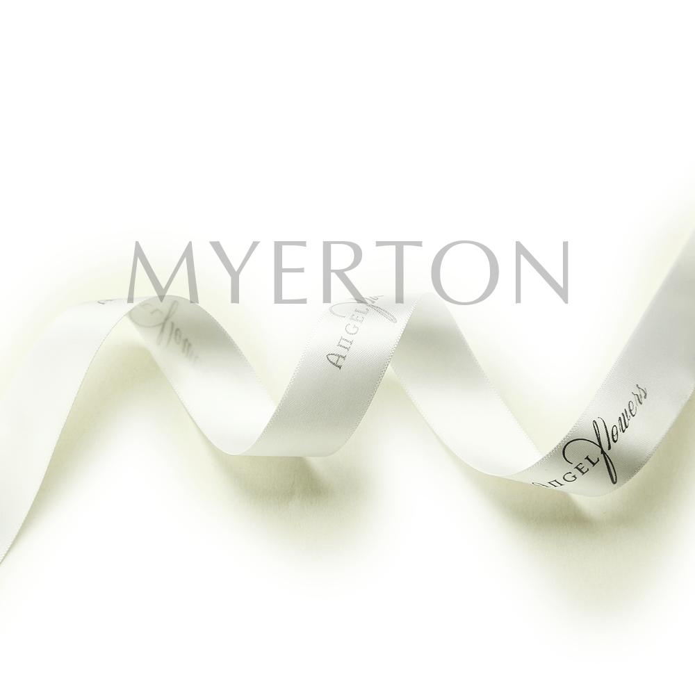 printed satin ribbon myerton packaging