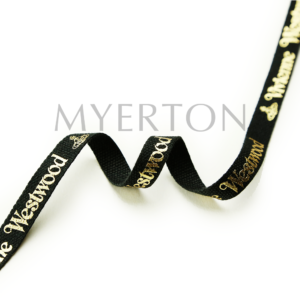 foil stamping cotton printed ribbon