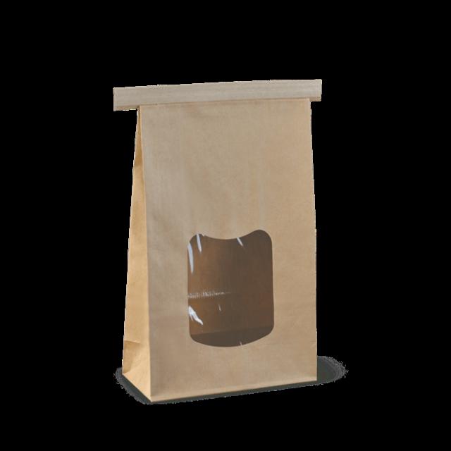 large window tin-tie bag