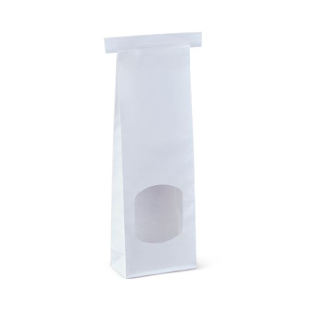 small window tin-tie bag
