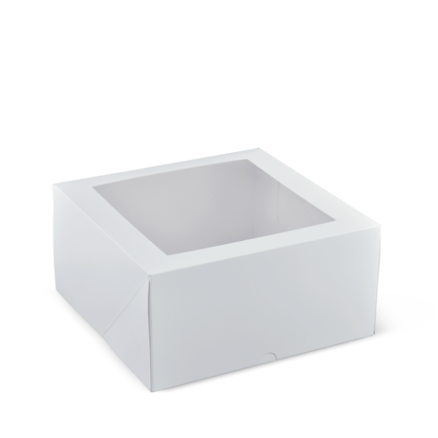 9 inch deep square patisserie box