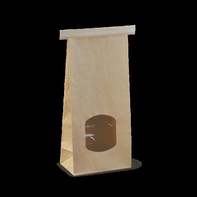 medium window tin-tie bag