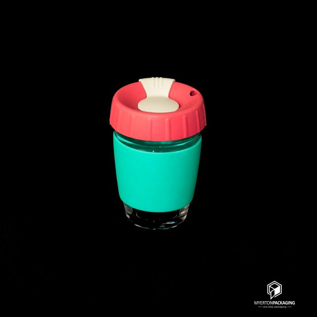 reusable coffee cup - colourful
