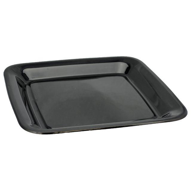 platter square black 16''/405mm
