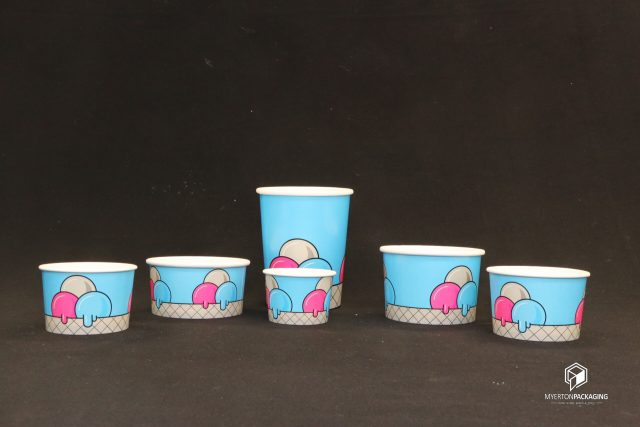 ice cream cup . custom printing available. various size