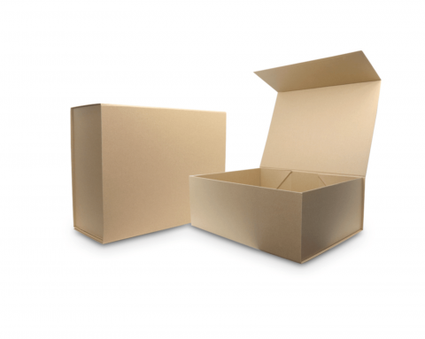 rigid box with magnetic closing lid