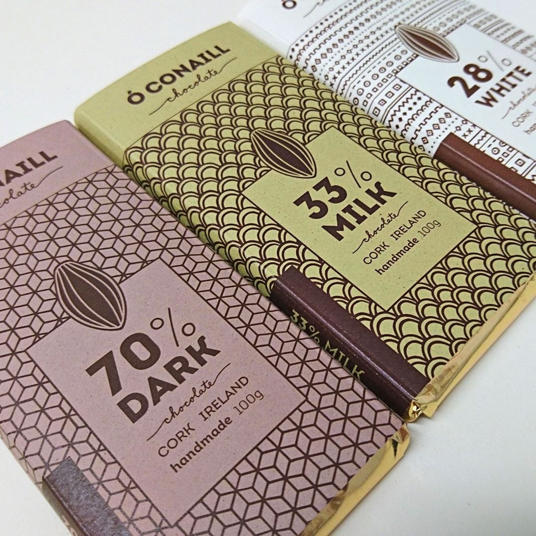 chocolate packaging made from almonds and hazelnuts